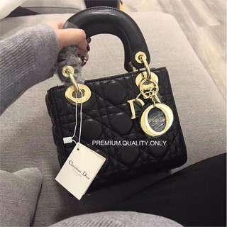 Lady Dior Mini in black