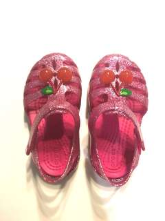Glitter Pink cherry Crocs (Isabella Novelty sandals)