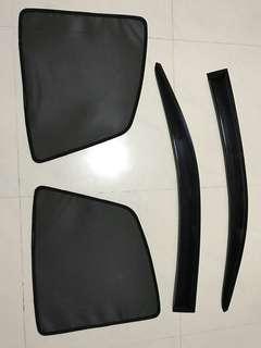 Door Visor & Magnetic Sunshade for NV200