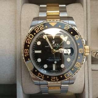 Rolex GMT Master II 2-Tone Half Gold