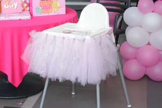 Pink Tutu Skirt for Table Baby Chair