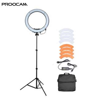 PROOCAM RL-18 240PCS beads LED ring light with Lightstand 190 for video make up photo