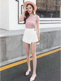 Minimalist Wrap Skirt (KR081908)