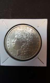 U.S Morgan silver Dollar. 1898