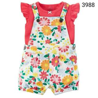 2in1 Carter's summer flower overall