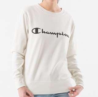 Champion crewneck script logo cream