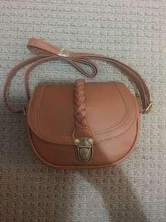 Brand new tan side bag