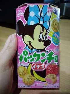Morinaga Disney JAPAN Minnie Mouse Strawberry Cookies