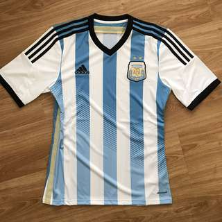 100% AUTHENTIC Argentina Home Jersey 2014