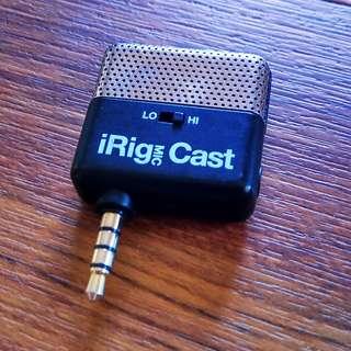 IRig MIC Cast 手機手持式降噪麥克風(IOS、Android 皆可使用)