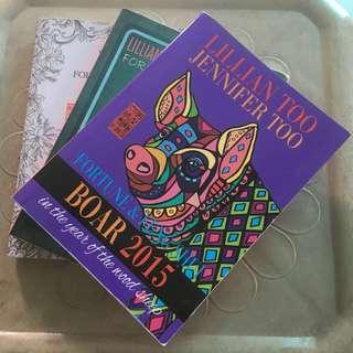 TAKE ALL! BUNDLE: Original Lilian Too's Fengshui Book- BOAR (2013/15/16)
