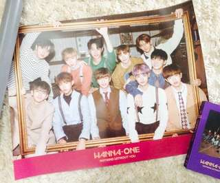 WTS WANNA ONE NOTHING WITHOUT YOU POSTER