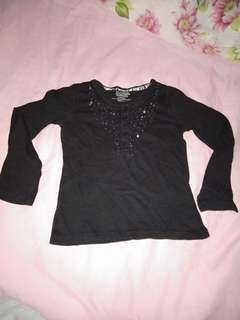 Black long sleeves with beads