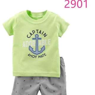 Carters Boy Terno Set