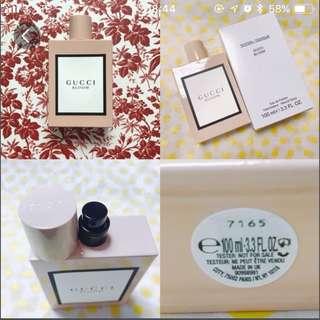 🎉番左3支現貨了🎉🌷 $450 gucci 2017 新香水 bloom edp tester 版 100ml(無原裝紙盒)女士花香香水 最大支 最新產品