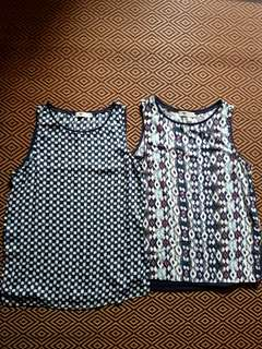 TEMT M-Sized Printed Formal-Casual Tank Tops