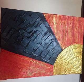 artwork abstract acrylic canvass