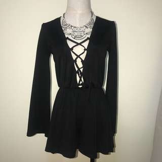 Topshop Lace up front dress/ rompers