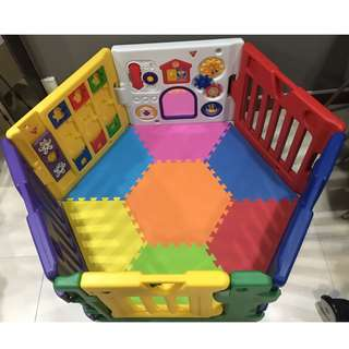 6 Panels Premium Musical Play Yard with FREE Mats