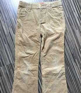 Esprit velvet long pants for 8yo girl