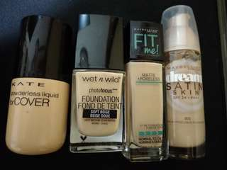 粉底液(fit me/maybelline/wet n wild/Kate)