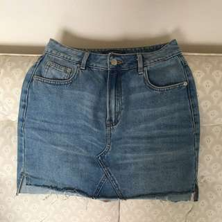 Dynamite Denim Mini Skirt XS