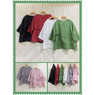 純苎麻刺繡衫 6色