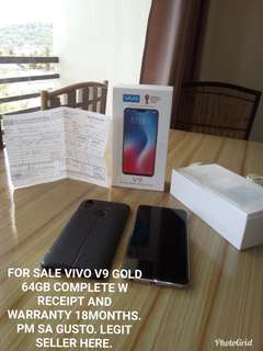 Rush Vivo V9 Gold Almost Brandnew
