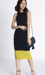 Madena contrast midi dress