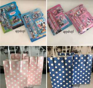 Polka dot paper bag, goodies bag gift, goodie bag packages, goody bag item