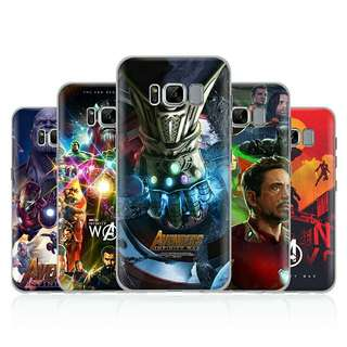 Avengers Infinity War phone case cover Samsung Galaxy S4 S5 S6 S7 Edge S8 S9 Plus Note 8 2 3 4 5A5A7J52016J7