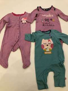 Mothercare Sleepsuits 3-6 month