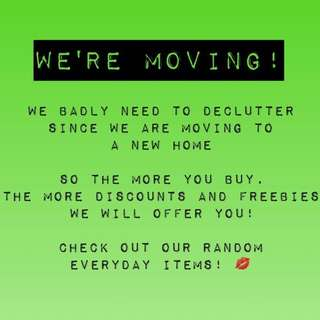 We're moving out sale!!