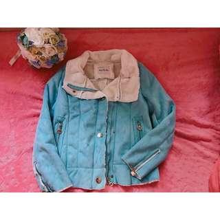 藍綠色95% new 外套