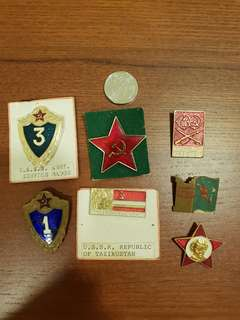 6 genuine Russian ARMY BADGES