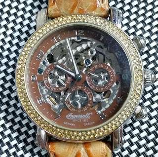 Inegersoll 二手錶,全原裝,連錶盒,透視底蓋,自動機芯,可較時間,但錶唔行,當零件賣,錶頭39mm不連錶的,錶耳I8mm,全套$250,有意請pm