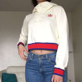 Adidas Cropped Hoodie Size Small