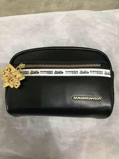 日本品牌Samantha Vega 黑色 雜物袋 化妝袋
