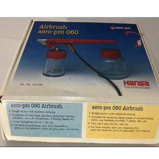 Aero pro Mint hi quality Hansa made in German airbush that comes with everything it needs.Brand new in box