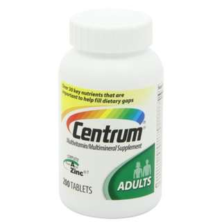🚚 Centrum Adult Complete from A to Zinc - Multivitamins For Adults. 200 Tablets // Expiry Date: 2019 July