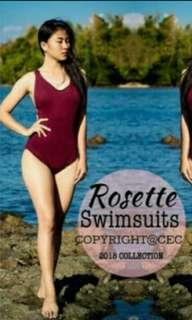Maroon One Piece Swimsuit