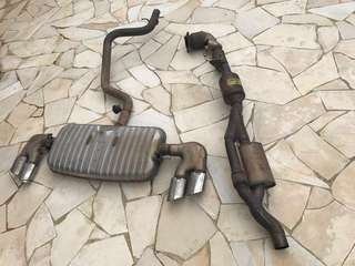 Audi TTS original stock exhaust