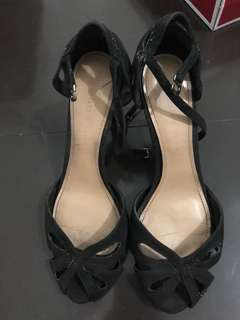 Charles and keith black open toe