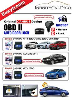 Obd lock for honda