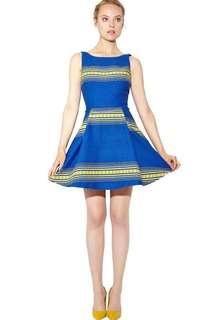 Alice+Olivia holis structured blue dress 💙💛