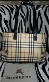 Original 100% Guaranteed Real  Authentic Burberry Check   Nova Plaid Coated Bag
