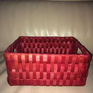 New rattan Red Rectangle Basket