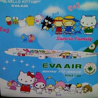 長榮 Hello kitty 1:200 金屬飛机 JC Wings