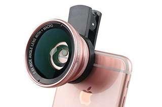 0.6x超級廣角+(15X)微距 高清專業攝影自拍鏡頭(玫瑰金)