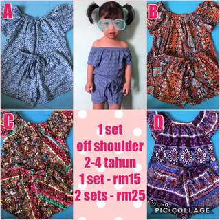 Offshoulder for baby girls